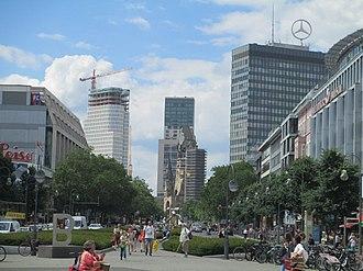 Europa-Center - View from Tauentzienstraße