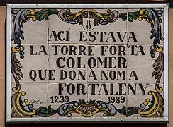 Tauler Informatiu de la Torre de Fortaleny (País Valencià).jpg