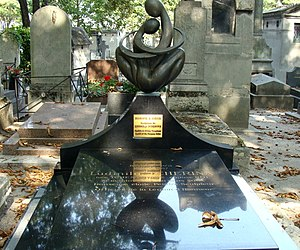 Ludmilla Tchérina - Grave of Tcherina at the Montmartre Cemetery