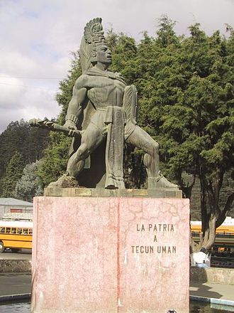 Quetzaltenango Department - Statue of Tecun Uman in Quetzaltenango city