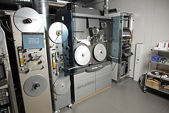 Shadow telecine system, produced by Grass Valley (formerly Thomson, originated from Bosch-Fernseh's inventions), installed at DR, Denmark Telecine system (6498625539).jpg