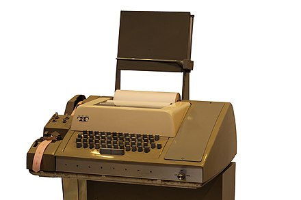 Teletype Model 33 ASR (Automatic Send and Receive) Teletype-IMG 7289.jpg