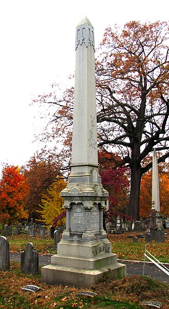 Oliver Perry Temple - Temple family obelisk at Old Gray Cemetery
