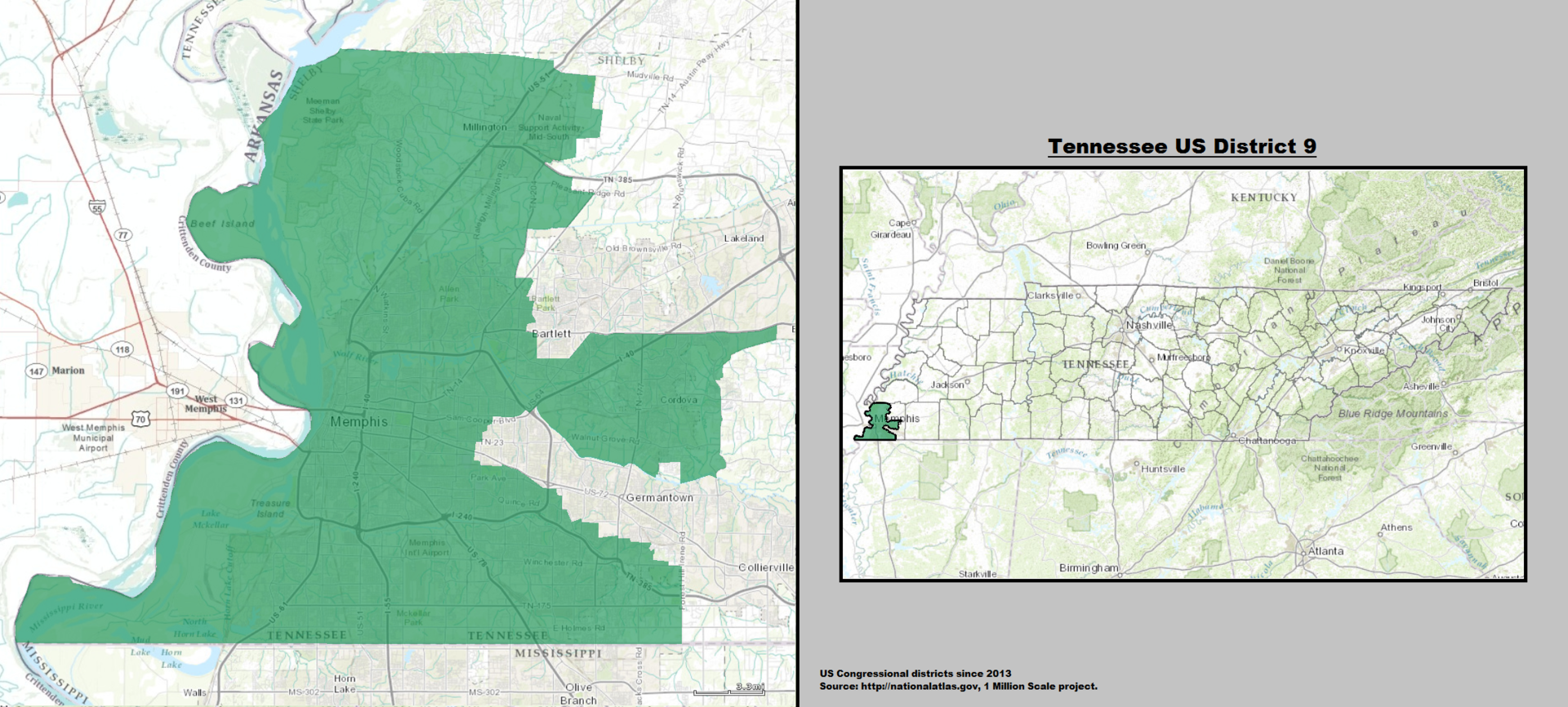 Tennessee39s 9th Congressional District  Wikipedia