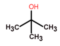 Tert-butyl alcohol structure.png