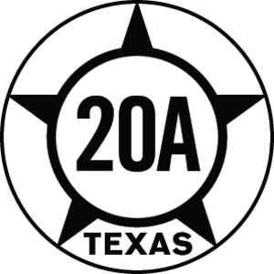 Texas State Highway 20 - Image: Texas Hist SH20A