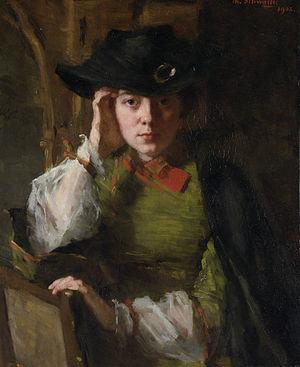 Lizzy Ansingh - 1902 portrait by Thérèse Schwartze