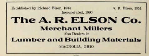 File:The A R Elson Co - Merchant millers - Lumber and building materials - Magnolia Ohio 1915.tiff