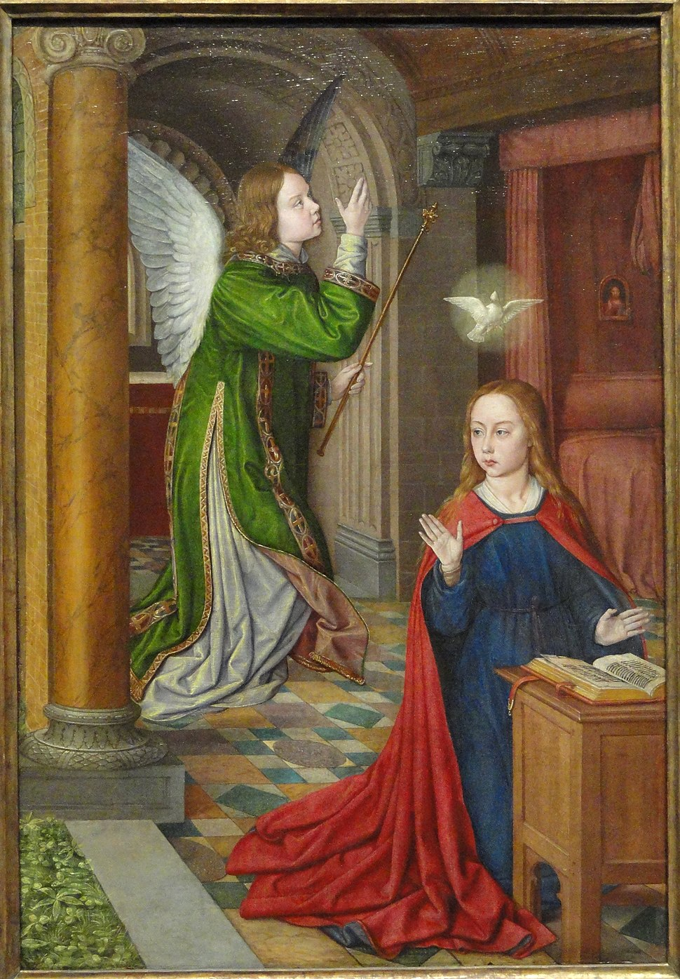 The Annunciation, 1490-1495, by Jean Hey (Master of Moulins) - Art Institute of Chicago - DSC09637