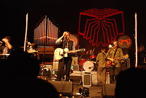 Arcade Fire performing in support of Neon Bible at the United Palace Theater on May 7, 2007