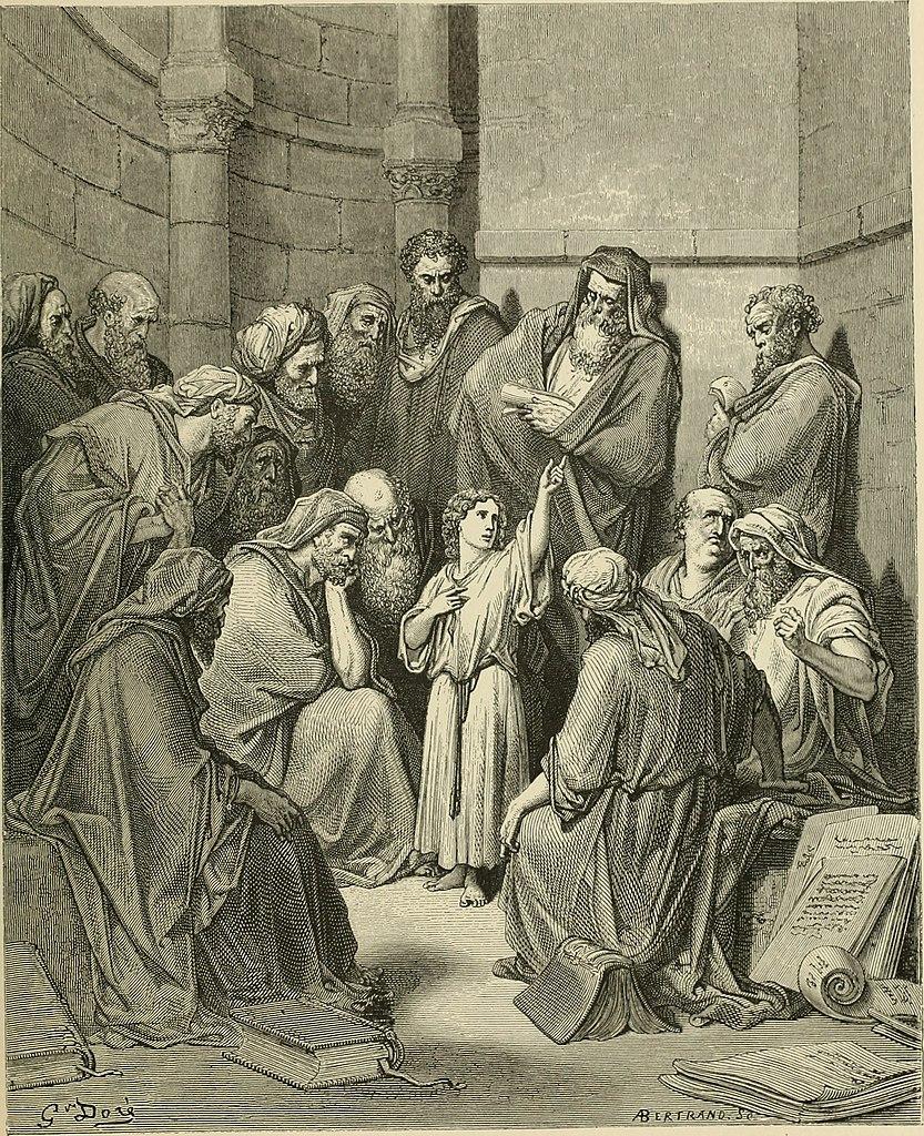 선생들과 토론하는 예수님 (귀스타브 도레, Gustave Dore, 1866년)