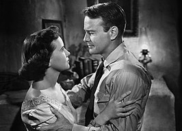 Theresa Wright en Lew Ayres in The Capture