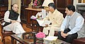 The Chief Minister of Andhra Pradesh, Shri N. Chandrababu Naidu calling on the Union Minister for Finance, Corporate Affairs and Defence, Shri Arun Jaitley, in New Delhi.jpg