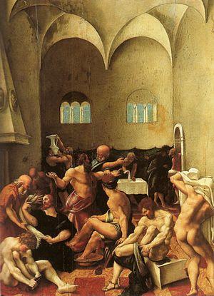 Girolamo del Pacchia - The Washing of the Feet by Girolamo del Pacchia, Musée des Beaux-Arts de Strasbourg, 1520