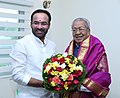 The Governor of Andhra Pradesh, Shri Biswabhusan Harichandan calling on the Minister of State for Home Affairs, Shri G. Kishan Reddy, in New Delhi on August 09, 2019.jpg