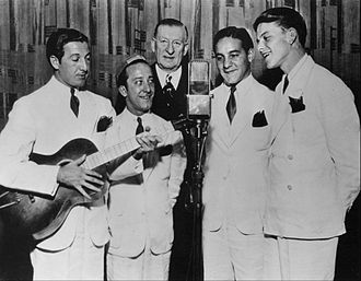 Frank Sinatra - Sinatra (far right) with the Hoboken Four on Major Bowes' Amateur Hour in 1935