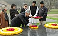 The Minister of Foreign Affairs of Kyrgyz, Mr. Ednan Karabaev paying floral tributes at the Samadhi of Mahatma Gandhi at Rajghat, in Delhi on February 05, 2008.jpg
