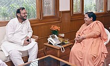 The Minister of Urban Development, Uttar Pradesh, Shri Suresh Khanna meeting the Union Minister for Water Resources, River Development and Ganga Rejuvenation, Sushri Uma Bharti, in New Delhi on June 21, 2017.jpg