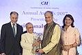 The President, Shri Pranab Mukherjee presenting the CII President's Award for Lifetime Achievement to the Chairman, Bajaj Auto Limited, Shri Rahul Bajaj, at a function, in New Delhi on April 27, 2017.jpg
