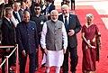 The President, Shri Ram Nath Kovind and the Prime Minister, Shri Narendra Modi with the President of the Republic of Belarus, Mr. Alexander Lukashenko, at the Ceremonial Reception, at Rashtrapati Bhavan, in New Delhi.jpg
