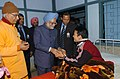 The Prime Minister, Dr. Manmohan Singh meets a patient at Ramakrishna Mission Hospital, in Itanagar, Arunachal Pradesh on January 31, 2008.jpg