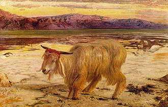 Acharei Mot - The Scapegoat (1854 painting by William Holman Hunt)
