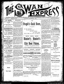 <i>Swan Express</i> newspaper in Midland Junction, Western Australia, active 1900 - 1954