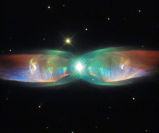 The Twin Jet Nebula  ESA/Hubble [CC BY 3.0 (http://creativecommons.org/licenses/by/3.0)], via Wikimedia Commons