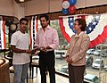 The U.S Consulate Chennai celebrated its two-year anniversary on Facebook with U.S. Consul General Jennifer McIntyre, actors Bharath Srinivasan and Jeyam Ravi01.jpg