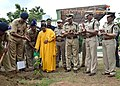 The Union Minister for Water Resources, River Development and Ganga Rejuvenation, Sushri Uma Bharti planting a sapling in the premises of CRPF, at Nagpur on August 18, 2016.jpg