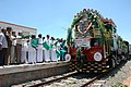 The Union Minister of Health & Family Welfare Dr. Anbumani Ramdoss flagging off the Tenkasi - Madurai Passenger Train at Tenkasi Railway Station, Tamil Nadu August 21, 2005.jpg