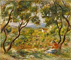 The Vineyards at Cagnes by Pierre-Auguste Renoir, 1908. Brooklyn Museum