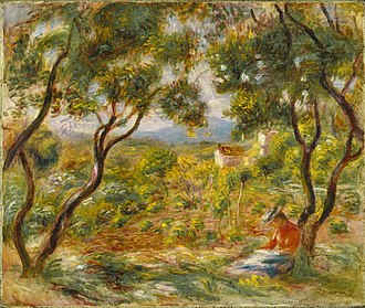 Cagnes-sur-Mer - Image: The Vineyards at Cagnes Pierre Auguste Renoir 1908