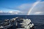 The aircraft carrier USS Dwight D. Eisenhower (CVN 69) transits the Atlantic Ocean. (31913708505).jpg
