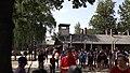 The arbeit macht frei gate in Auschwitz I from inside.jpg