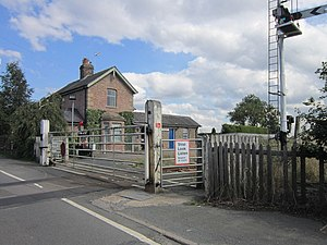 Hessay railway station - The former station in 2013