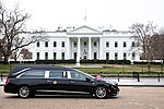 The funeral procession of former President George H.W. Bush passes in front of the White House (45279177925).jpg