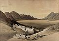 The monastery of St. Catherine at Mount Sinai, from the sout Wellcome V0049449.jpg