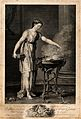 The virtuous Athenian. Engraving by J.J. Flipart after J.M. Wellcome V0035995.jpg
