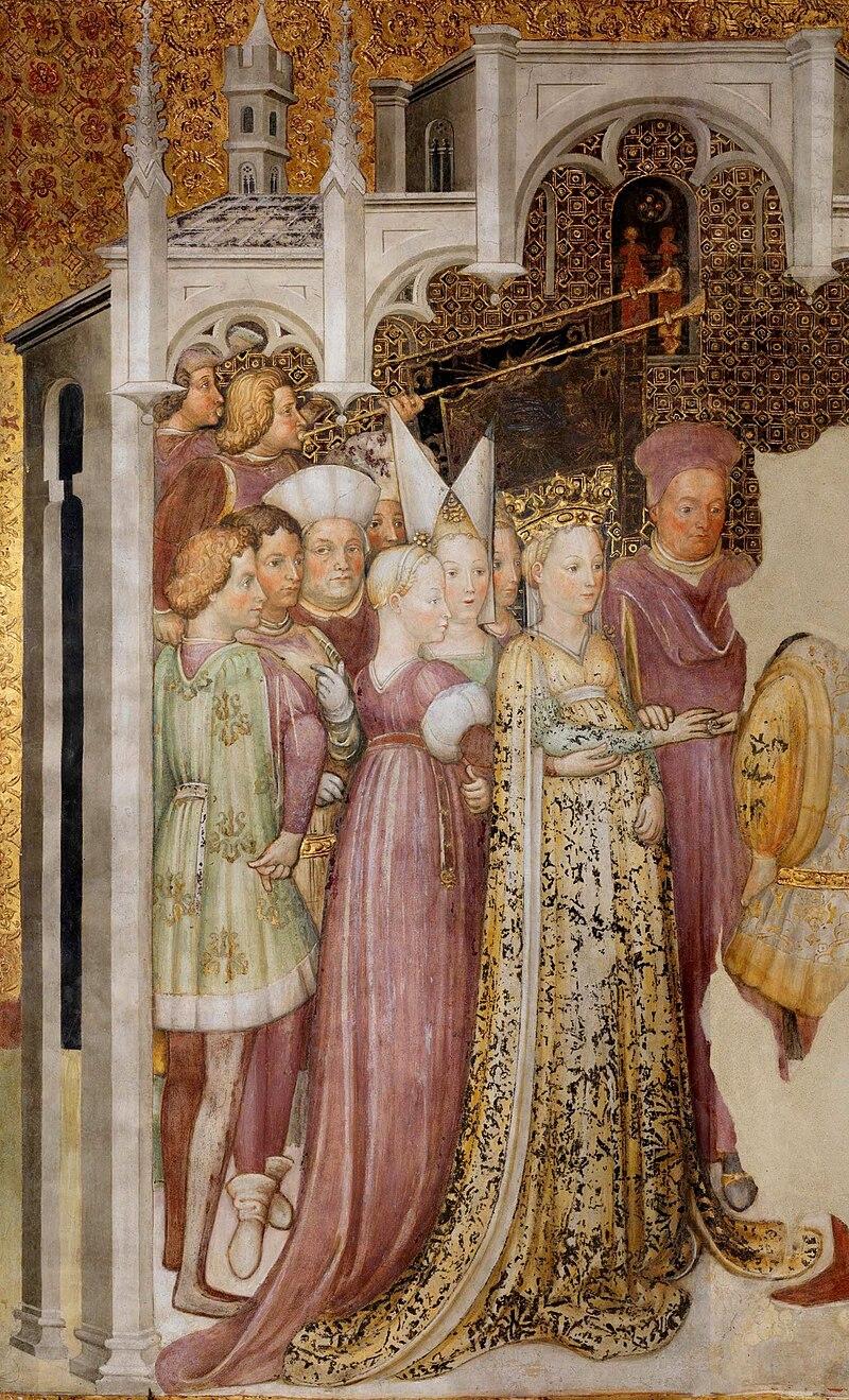 Изображение королевы Теодолинды (фреска Заваттари 1444 г.)
