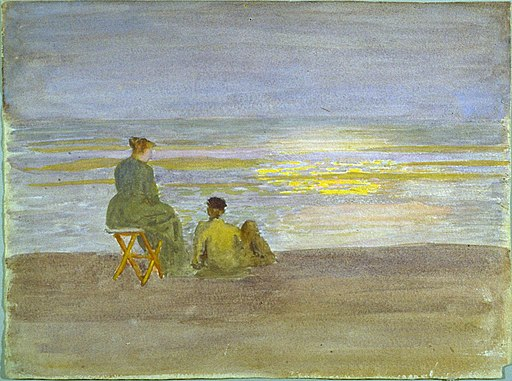 Thomas P. Anshutz - Man and Woman on the Beach