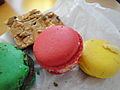 Three different macarons, February 2010.jpg