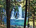 Through the Trees, Burney Falls, CA 9-06 (24912444861).jpg