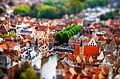 """Tilt Shift de la ciudad de Brujas desde lo alto de """"la atalaya"""" (Torre de Halles).jpg"""