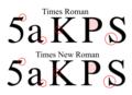 Times Roman vs Times New Roman.png