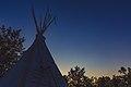 Tipi Sunset - Upper Sioux Agency State Park, Minnesota (34728444924).jpg