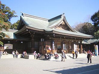 Toyokawa, Aichi - Image: Toga Shrine (main hall 2)
