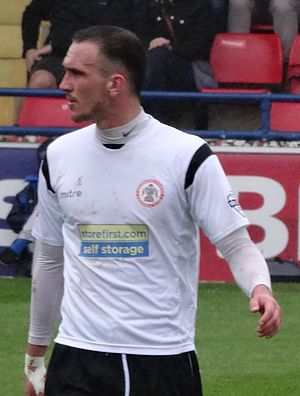Tom Aldred - Aldred playing for Accrington Stanley in 2014