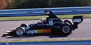 Pryce drives his Shadow at the 1975 United States Grand Prix.