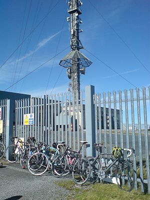 Kippure - The base of the transmitter mast on the top of Kippure